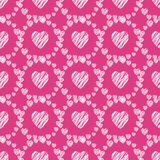 Hand drawn hearts seamless pattern. stock images