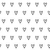 Hand Drawn Hearts Seamless Pattern Royalty Free Stock Photo