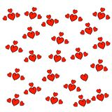 Hand drawn hearts seamless pattern. Abstract repeated doodle sketch background royalty free illustration