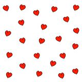 Hand drawn hearts seamless pattern royalty free illustration