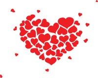 Hand drawn hearts Royalty Free Stock Image