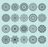 Hand drawn henna abstract mandala pattern flowers and paisley doodle coloring page. Henna decorative mandala pattern. Ethnic flower. Decoration mandala pattern Royalty Free Stock Photos