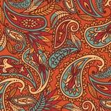 Hand-Drawn Henna Mehndi Abstract Mandala Flowers and Paisley Doodle Royalty Free Stock Photo