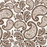 Hand-Drawn Henna Mehndi Abstract Mandala Flowers and Paisley Doodle Royalty Free Stock Images