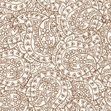 Hand-Drawn Henna Mehndi Abstract Pattern. Royalty Free Stock Images