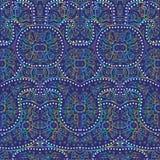 Hand-Drawn henna Mehndi Abstract pattern. Royalty Free Stock Photography