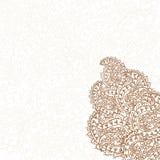 Hand-Drawn henna Mehndi Abstract pattern. royalty free illustration