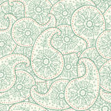Hand-Drawn henna Mehndi Abstract pattern. Royalty Free Stock Image