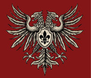 Hand Drawn Heraldic Eagle Royalty Free Stock Image