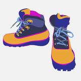 Hand drawn hiking boots vector sketch  Royalty Free Stock Photo