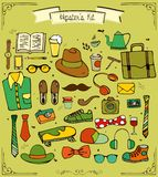 Hand drawn hipster kit collection Royalty Free Stock Images