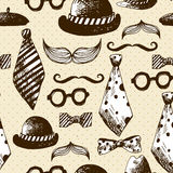 Hand Drawn Hipster Seamless Background Royalty Free Stock Photo