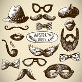 Hand Drawn Hipster Vector Design Elements Stock Images