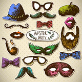 Hand Drawn Hipster Vector Design Elements Stock Image