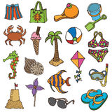 Hand drawn holiday icons Royalty Free Stock Photos