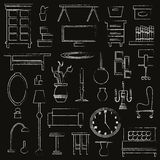 Hand drawn home appliance furniture Stock Photography