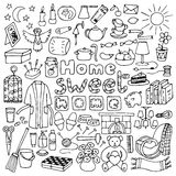 Hand drawn Home set Royalty Free Stock Photography