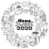 Hand drawn Home set Stock Images