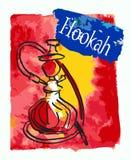 Hand drawn hookah bottle. Royalty Free Stock Image