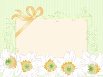 Hand drawn horizontal card, vintage, art deco styl Royalty Free Stock Photography