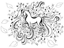 Hand drawn horse background Stock Images