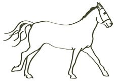 Hand drawn horse Royalty Free Stock Images