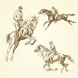 Hand drawn horses Stock Image