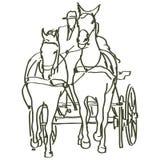 Hand drawn horses Stock Image