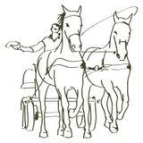 Hand drawn horses Royalty Free Stock Photo