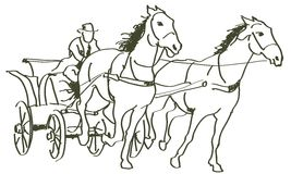 Hand drawn horses Royalty Free Stock Photography