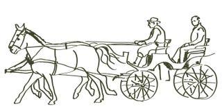 Hand drawn horses Stock Photo