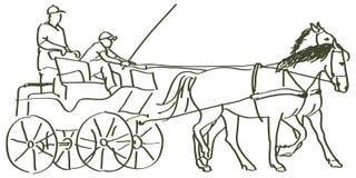 Hand drawn horses Stock Photos