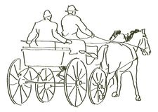 Hand drawn horses Royalty Free Stock Images