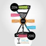 Hand drawn hourglass design and infographics Stock Photo