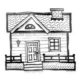 Hand drawn house Stock Photography