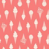 Hand drawn ice cream vintage pattern. Royalty Free Stock Photos