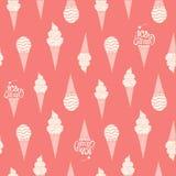 Hand drawn ice cream vintage pattern. Royalty Free Stock Photos