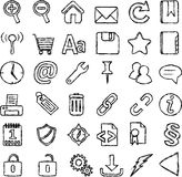 Hand-drawn icon set Royalty Free Stock Photography