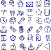 Hand-drawn icon set Stock Photography