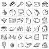 Hand Drawn Icons 003 Stock Photos