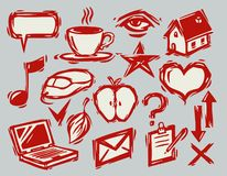 A hand drawn icons Stock Photo