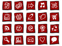 Hand drawn icons Royalty Free Stock Photos
