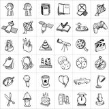Hand drawn icons 007 Royalty Free Stock Image