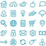 Hand-drawn icons for design. Royalty Free Stock Photography