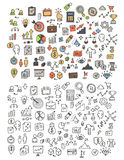 Hand drawn icons and elements pattern. vector illustration