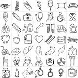 Hand drawn icons 012 Stock Images