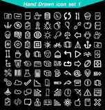 Hand drawn icons set Royalty Free Stock Images