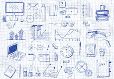 Hand drawn icons Stock Photo