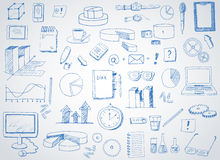 Hand drawn icons Royalty Free Stock Photography