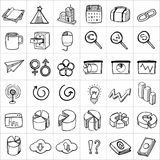 Hand drawn icons 006 Royalty Free Stock Photography